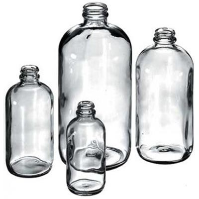 Boston Round All Sizes Flint Glass Bottle