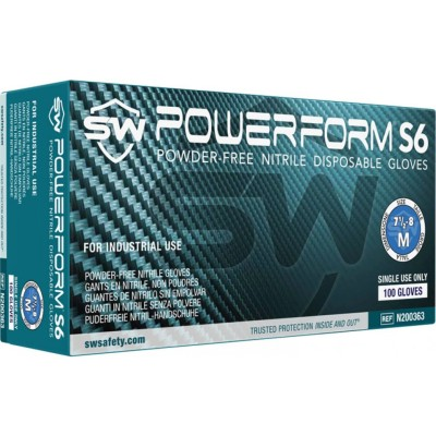 PowerForm® S6 EcoTek Biodegradable Exam Nitrile Gloves
