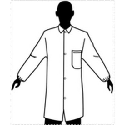 Tian's 845880 Polypropylene Lab Coats with One Pocket