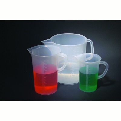 BEAKERS W/ HANDLE, TALL, PP