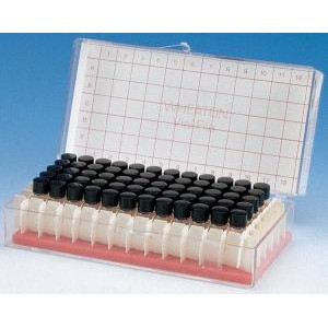 Sample Vials in Lab File with Open Top Caps and Septa