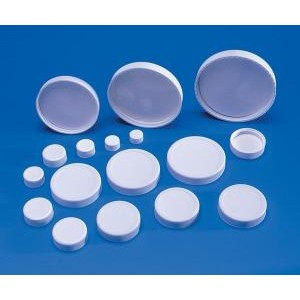 White Polypropylene Caps with Polyvinyl Liners